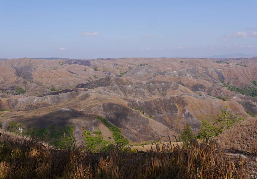 The empty interior of east Sumba looks like a moonscape
